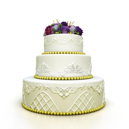 Wedding White Background: T&C Bakery